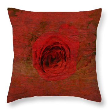 Red Red Rose Throw Pillow by Kathleen Struckle