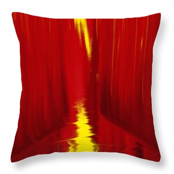 Red Reed River Throw Pillow