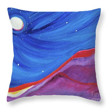 Throw Pillow featuring the painting Red Ridge By Jrr by First Star Art