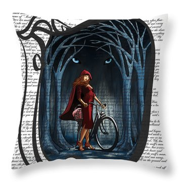 Red Riding Hood Throw Pillow by Sassan Filsoof