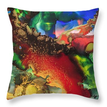 Red River Gold Throw Pillow by Kathy Sheeran