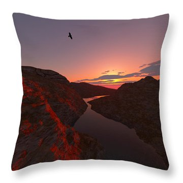 Red River... Throw Pillow