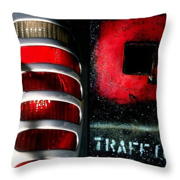 Red Road Rage Throw Pillow