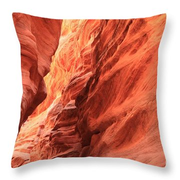 Red Rock Bend Throw Pillow