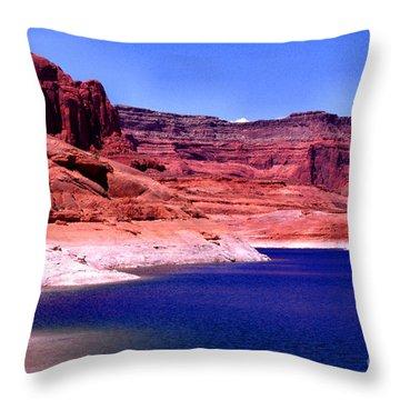 Red Rock Blue Sky Throw Pillow by Thomas R Fletcher