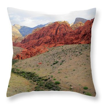 Red  Rock Canyon 2014 Number 10 Throw Pillow