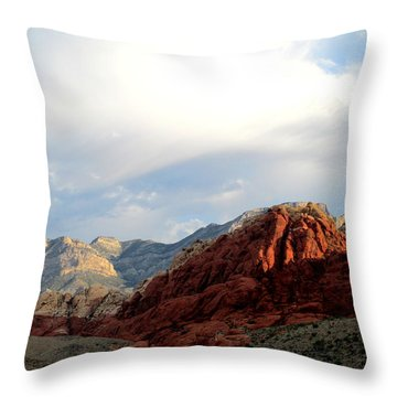Red Rock Canyon 2014 Number 8 Throw Pillow