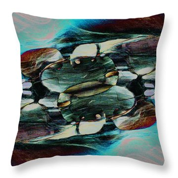 Red Rock Canyon Blues 2 Throw Pillow