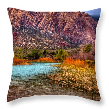 Red Rock Canyon Conservation Area Throw Pillow