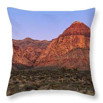 Red Rock Canyon Pano Throw Pillow