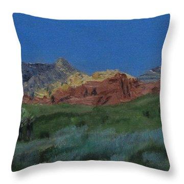Red Rock Canyon Panorama Throw Pillow