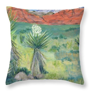 Red Rock Canyon With Yucca Throw Pillow