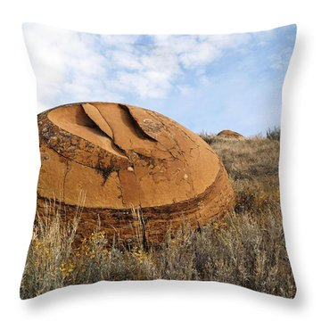 Red Rock Coulee I Throw Pillow by Leanna Lomanski