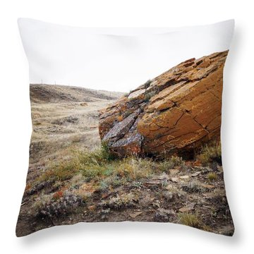 Red Rock Coulee IIi Throw Pillow by Leanna Lomanski