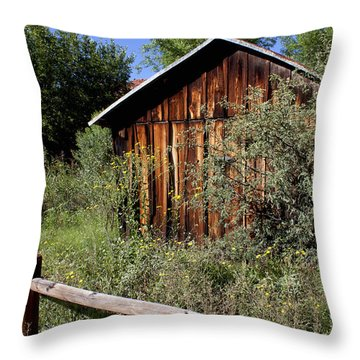 Throw Pillow featuring the photograph Red Rock Crossing House by Ivete Basso Photography