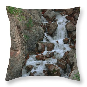 Red Rock Falls Throw Pillow