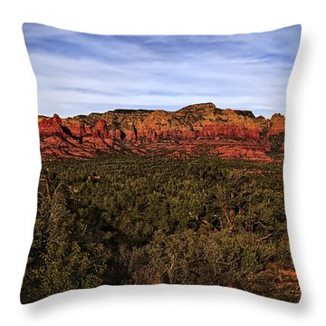 Red Rock Golden Hour 26 Throw Pillow