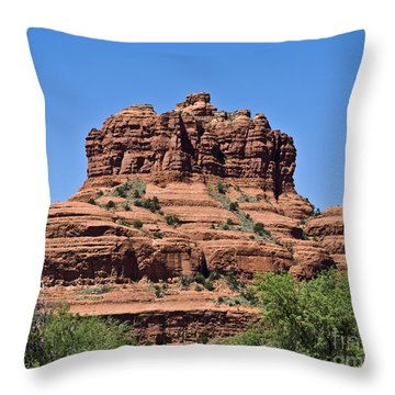 Throw Pillow featuring the photograph Red Rock Hat by Kirt Tisdale