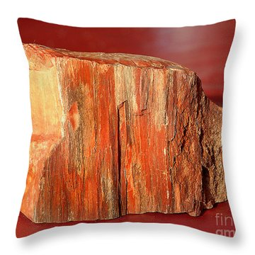 Throw Pillow featuring the photograph Red Rock by Lena Wilhite
