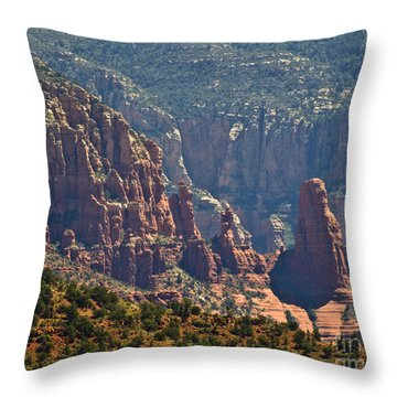 Red Rock Sentinals Throw Pillow