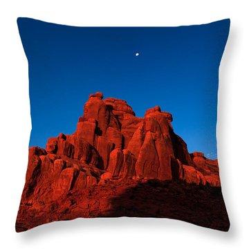 Red Rock Sunrise Throw Pillow by Jonathan Gewirtz