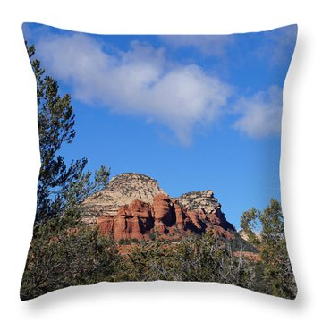 Red Rock Vista Throw Pillow