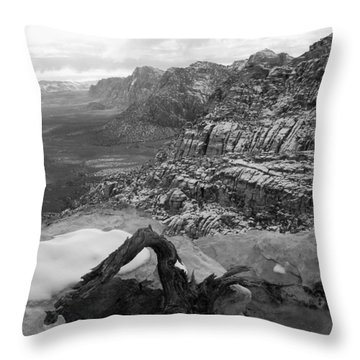Throw Pillow featuring the photograph Red Rock Winter by Alan Socolik