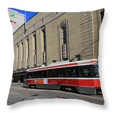 Red Rocket 23 Throw Pillow by Andrew Fare
