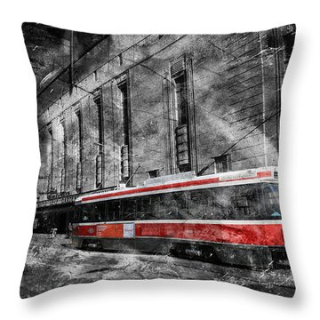 Red Rocket 23d Throw Pillow by Andrew Fare