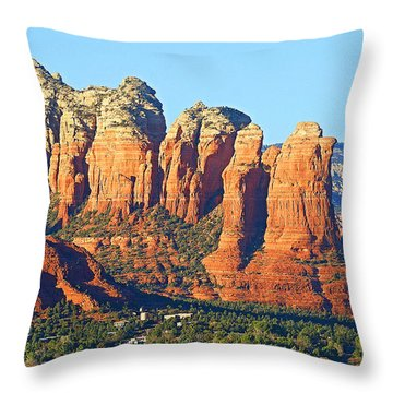 Red Rocks Throw Pillow