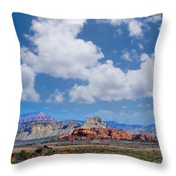 Red Rocks Near Kodachrome Basin Throw Pillow by Donald Fink