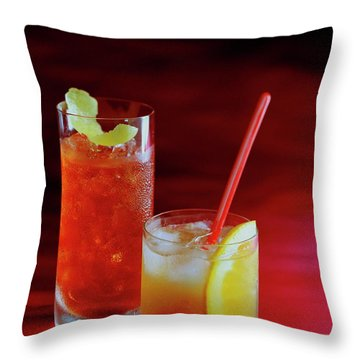 Red Rocktails Throw Pillow