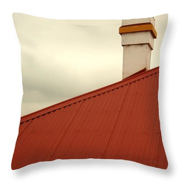Red Roof Throw Pillow by Kaleidoscopik Photography