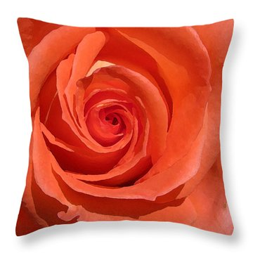 Red Rose Throw Pillow by Eva Csilla Horvath