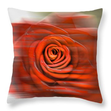 Throw Pillow featuring the photograph Red Rose by Leif Sohlman