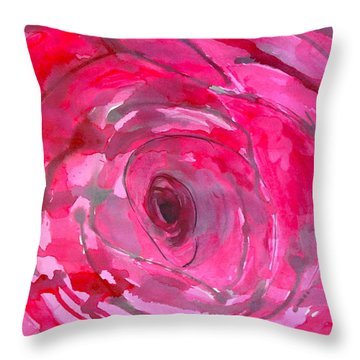 Red Rose Throw Pillow by Melissa Torres