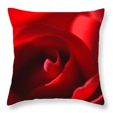 Throw Pillow featuring the photograph Red Rose by Tikvah's Hope
