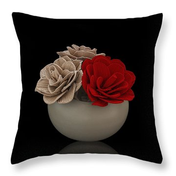 Red Rose Shimmer Throw Pillow by Rob Guiver