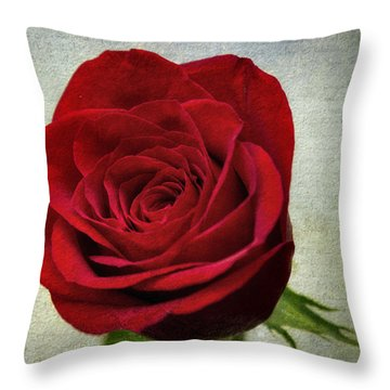 Red Rose V2 Throw Pillow by Ian Mitchell