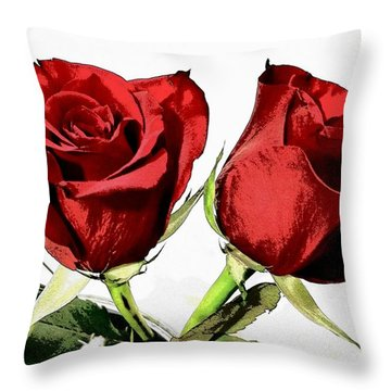 Red Roses 3 Throw Pillow