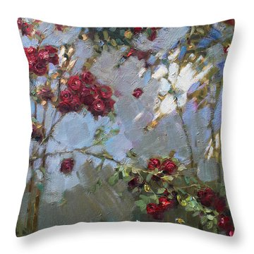 Red Rose Throw Pillows