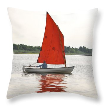 Red Sails Throw Pillow by Bob Sample