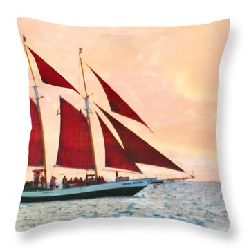 Red Sails Sunset Throw Pillow