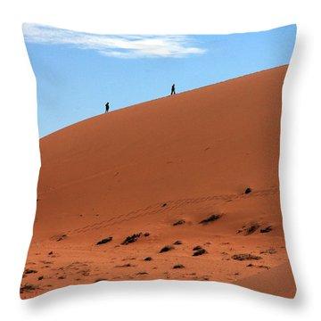 Red Sand Dunes Throw Pillow by Aidan Moran