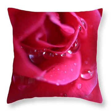 Red Scented Rose Throw Pillow