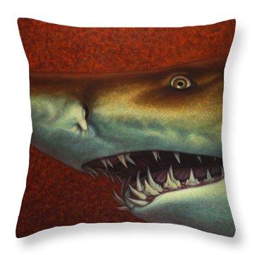 Red Sea Shark Throw Pillow