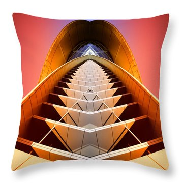 Red Shift Throw Pillow
