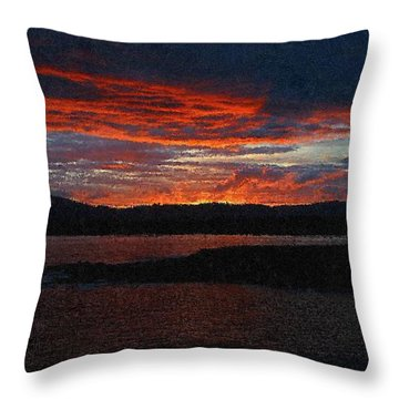 Red Sky At Night Throw Pillow by Bruce Nutting