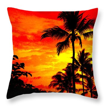 Throw Pillow featuring the photograph Red Sky At Night by David Lawson