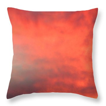 Red Sky At Night Throw Pillow by Laurel Powell